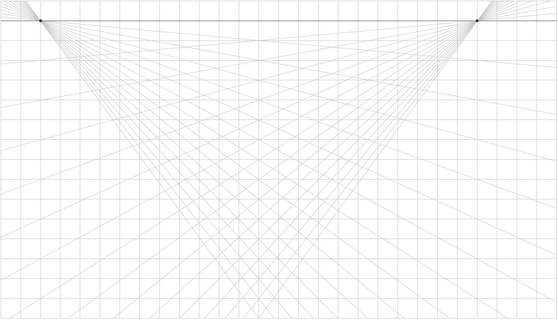 İki Nokta Perspektifi Kağıdı