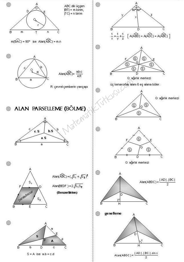 Üçgende Alan Formülleri 2
