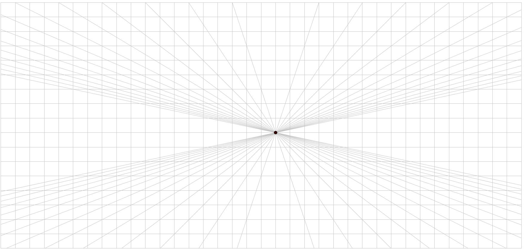 Perspektif kağıdı, Tek Nokta Perspektifi Kağıdı