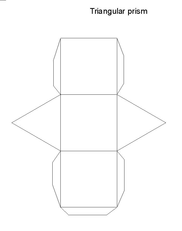 Üçgen prizmanın açılımı açık şekli