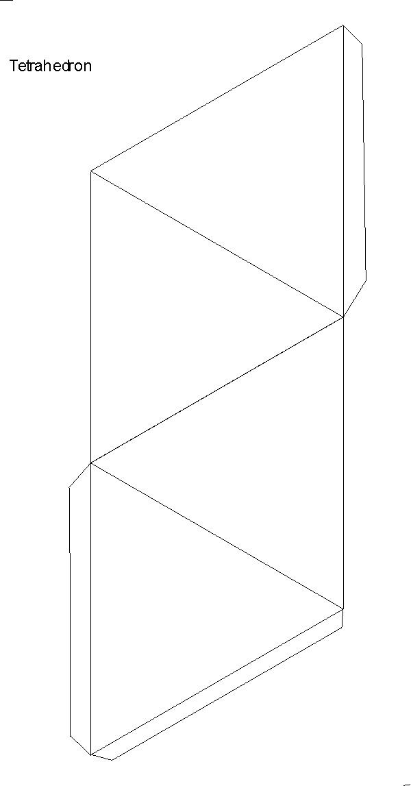 Üçgen piramitin açılımı açık şekli