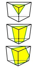 Üçgen prizmada arakesit yüzeyleri