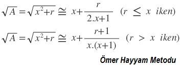 'karakök tahmin formülü' /